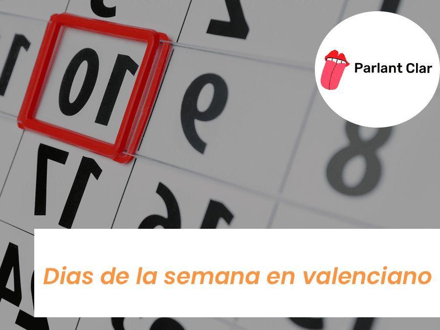 Días de la semana en valenciano