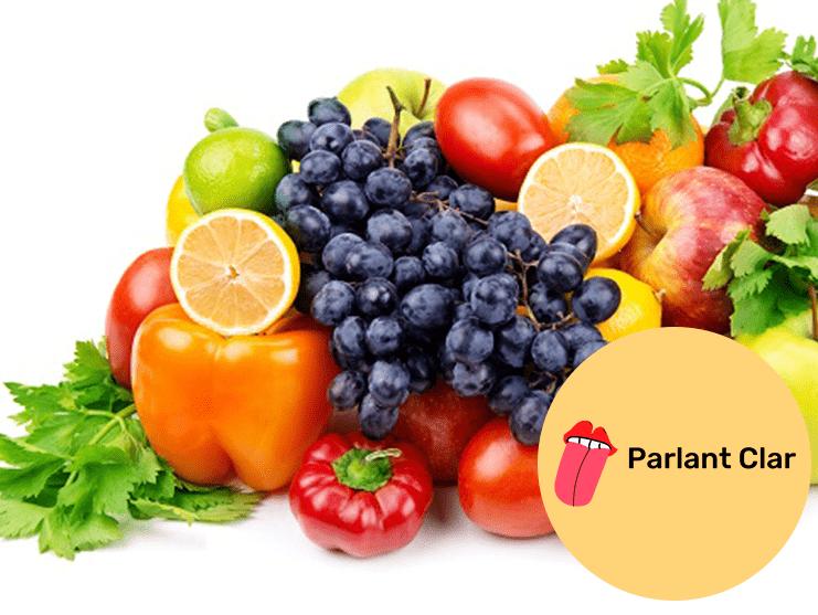 frutas y verduras en valenciano